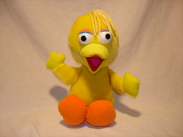 Knockoff Big Bird doll. Found on the web.