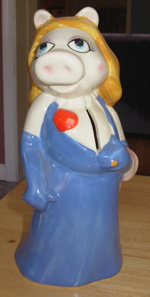 Miss Piggy bank, Sigma - late 70s.  Submitted by Lara F