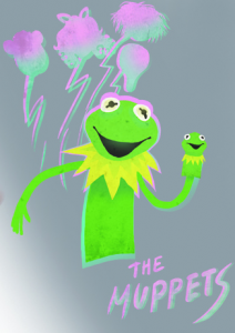 69 muppets now in the neon glow