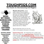 A Brief(ish) History of Tough Pigs, Part 1