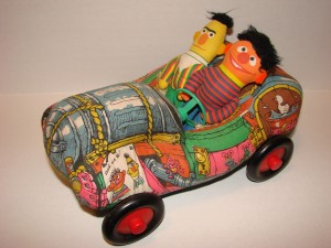 Bert and Ernie plush car by  Knickerbocker, submitted by Whitney