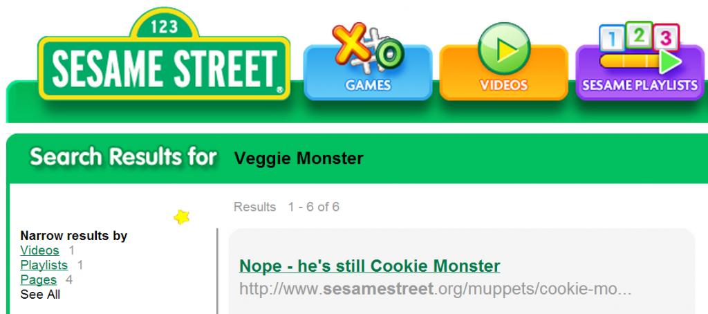 Nope he's still Cookie Monster