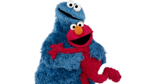 Cookie Monster Elmo hug