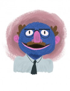 Muppets as Their Muppeteers: Grover as Frank Oz