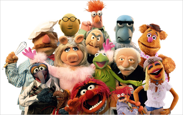 A gaggle of Muppets