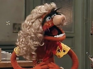 Muppets Tonight Animal as Miss Piggy