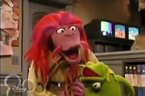 Muppets Tonight Clifford Kermit floppy head