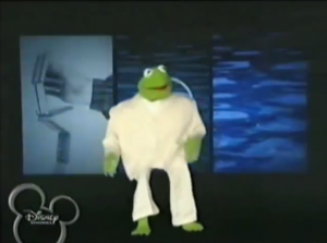 Muppets Tonight Once in a Lifetime Kermit white suit