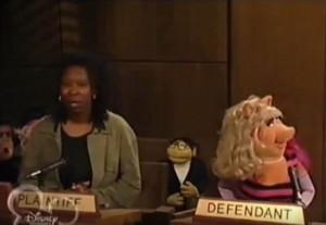 Muppets Tonight Whoopi Goldberg Miss Piggy People's Court