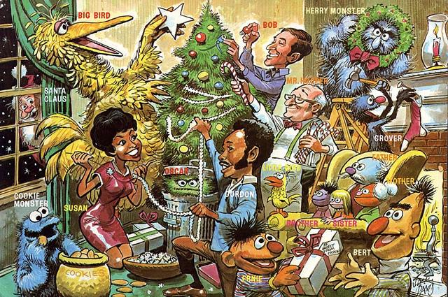 Sesame Street Christmas by Jack Davis