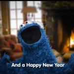 Cookie Monster Goes Cookie Caroling