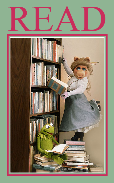 Poster Kermit Piggy READ books